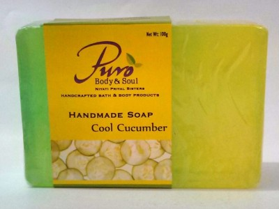 Puro Body & Soul Cool Cucumber Hand Made Soap 100 g