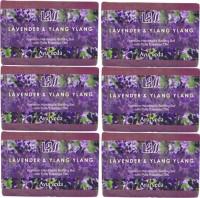 Lass Naturals Lavender Ylang Ylang Handmade Soap (Pack Of 6) (750 G)