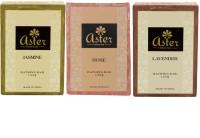 Aster Luxury Floral Bathing Bar - Combo Of 3 (Rose Jasmine Lavender) (500 G)
