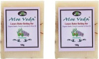 Aloe Veda Luxury Butter Bathing Bar - Organic Neem & French Lavender With Olive Oil - Pack Of 2