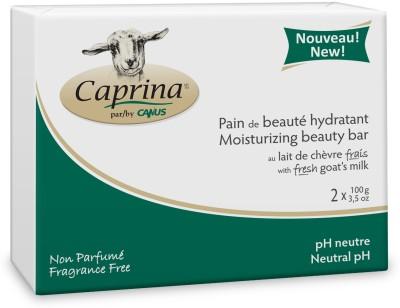 Caprina Moisturizing Beauty Bar with Fresh Goats Milk Fragrance Free