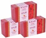 Khadi Mauri Rose Soap Pack of 3 Premium Handcafted Herbal