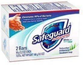 Safeguard Antibacterial Soap Bars (3 Pack = 6 Bars)