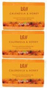 Lass Naturals Pack of 3 Lass Naturals LASS CALENDULA & HONEY Soaps