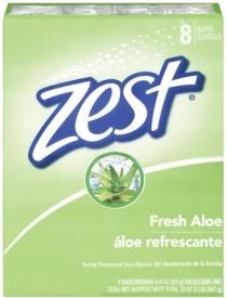 Zest 8-Bar Bath Size Soap Fresh Aloe