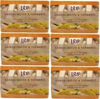 Lass Naturals Sandalwood And Turmeric Handmade Soap (Pack Of 6) (750 G)