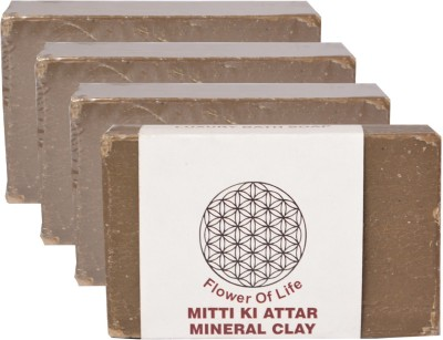 Flower of Life Mitti Ka Attar Premium Soap Pack