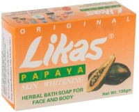 Likas Papaya Soap Papaya Skin Whitening Soap (135 G)