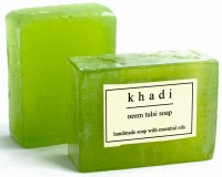 Khadi Khadi Neem Tulsi Soap - Pack Of 2 (125 G)