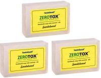 Healthbuddy Zerotox Handmade Soap Sandalwood, 3 Packs Of 125 Gm Each (375 G)