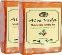 Aloe Veda Moisturising Bathing Bar - Patchouli With Cinnamon Leaf Oil - Pack Of 2