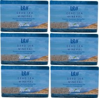 Lass Naturals Dead Sea And Mineral Handmade Soap (Pack Of 6) (750 G)