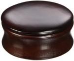 Kingsley Soaps Kingsley Shave Soap Bowl with Lid Dark Wood