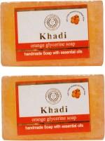 Khadi Orange Glycerine Soap Pack Of 2