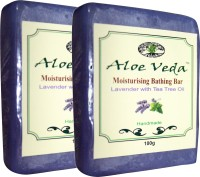 Aloe Veda Moisturising Bathing Bar - Lavender With Tea Tree Oil - Pack Of 2