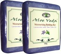 Aloe Veda Moisturising Bathing Bar - Lavender With Tea Tree Oil - Pack Of 2