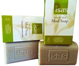 Isa's Dead Sea Mud Soap & Exfoliating Mud Soap Bundle - Twice the Size of Standard Soap!! All Natural Soap Using Dead Sea Mud - Great Facial Soap - Awesome Organic Soap Option - Try Our Natural Soap Bar Today!
