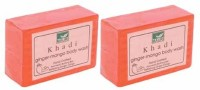 Khadi Mauri Ginger Mango Soap - Pack Of 2 - Premium Handcafted Herbal (250 G)