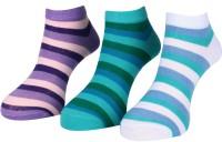 Lacarte Women's Self Design Ankle Length Socks - Pack Of 3 - SOCEFDVVWD7ZW2WC