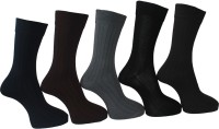 A&G Men's Striped Crew Length Socks - Pack Of 5 - SOCDYDF3HQH2D53Z