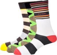 Pinellii Men's Striped Crew Length Socks - Pack Of 3 - SOCEFNTEYRHQZ67Z