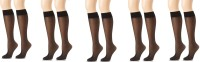Anfanna Women's Solid Knee Length Socks Pack of 5