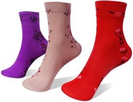 Rege Women's Printed Knee Length Socks (Pack Of 3) - SOCE4T6FZZXJC7RY