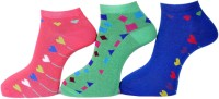 A&G Women's Polka Print Ankle Length Socks - Pack Of 3 - SOCDYZZWUWZUC8H4