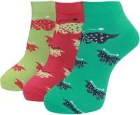 A&G Women's Self Design Ankle Length Socks - Pack Of 3 - SOCEYEGAHS7YK8UR
