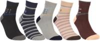 KHI Men's Striped Ankle Length Socks - Pack Of 5