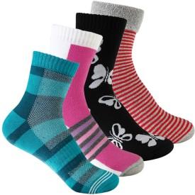 Supersox Women's Self Design Ankle Length Socks Pack Of 4 - SOCE76WG8G3TZAVV