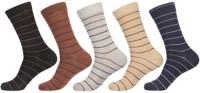 KHI Men's Striped Crew Length Socks - Pack Of 5 - SOCEY6JYYHEMFBCX