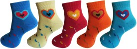 Royal Class Women's Self Design Ankle Length Socks