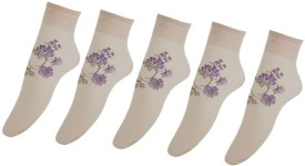 ELLIS Women's Self Design Ankle Length Socks