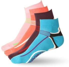 Stellen LIN 102 Women's Self Design Ankle Length Socks (Pack Of 4)