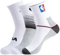 NBA Men's Striped Crew Length Socks - Pack Of 3 - SOCDYTMCHB5ZGVZS