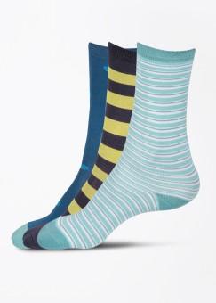 Adidas Originals Men's Striped Ankle Length Socks Pack Of 3