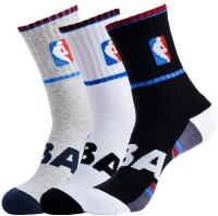 NBA Men's Striped Crew Length Socks - Pack Of 3 - SOCDYTMCNZZGTFVT