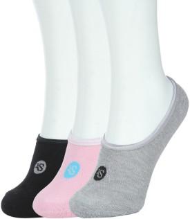 American Swan Women's Solid Footie Socks Pack Of 3 - SOCE966ZFDRQMFXH