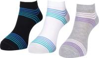 Lacarte Women's Self Design Ankle Length Socks - Pack Of 3
