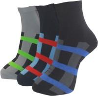 A&G Men's Striped Ankle Length Socks - Pack Of 3