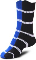 Proline Men's Striped Crew Length Socks - Pack Of 2
