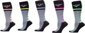 TuffRider Women's Self Design Knee Length Socks
