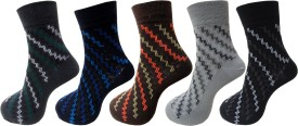 Royal Class Men's Self Design Ankle Length Socks