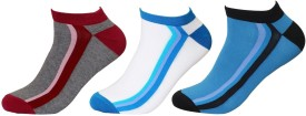 Balenzia Men's Striped Low Cut Socks Pack Of 3 - SOCE8F7AH3WP9MFS