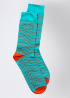 Footsy Men's Striped Crew Length Socks