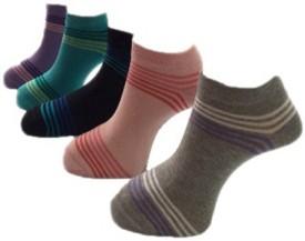 Lacarte Women's Self Design Ankle Length Socks (Pack Of 5)