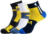 NBA Men's Striped Ankle Length Socks - Pack Of 3