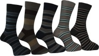 A&G Men's Striped Crew Length Socks - Pack Of 5 - SOCDYDF3BJGGQPGS