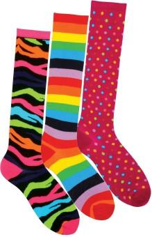 Supersox Women's Self Design, Striped Knee Length Socks